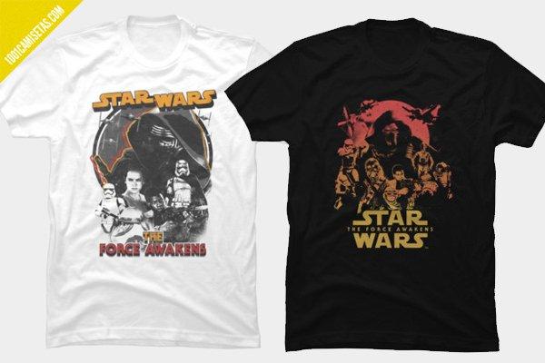 Camisetas despertar de la fuerza