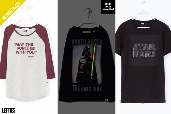 Camisetas star wars lefties