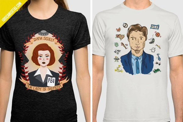 Camisetas mulder scully x-files