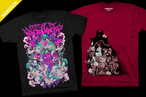 Camisetas videojuegos crypt of the necrodancer