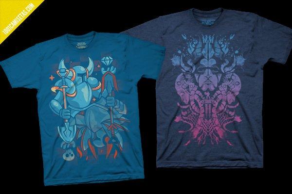Camisetas videojuegos shovel knight