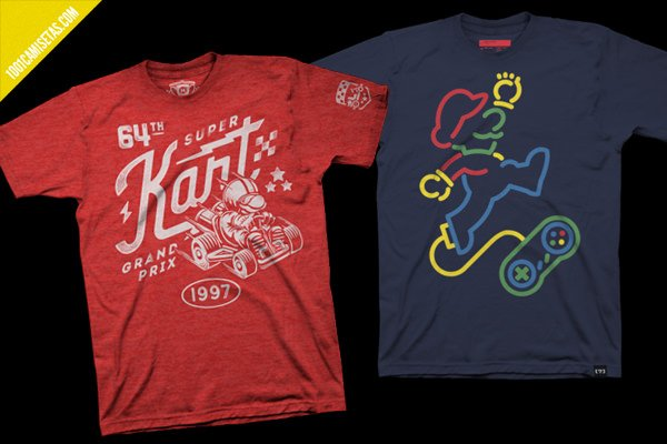Camisetas videojuegos super mario