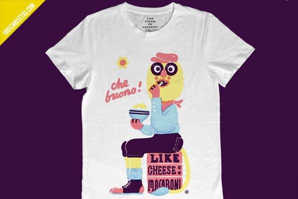 Camiseta cheese on macaroni
