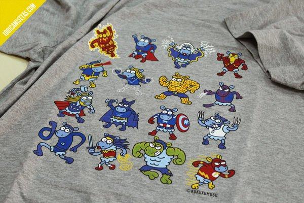 Camiseta superheroes kukuxumusu
