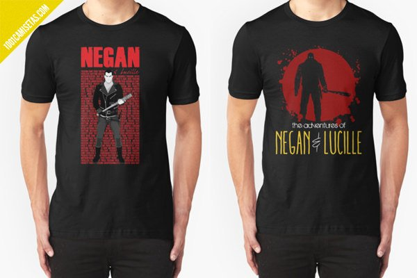 Camisetas the walking dead-negan