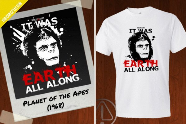 Camiseta el planeta de los simios spoiler