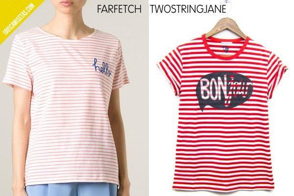 Camisetas rayas farfetch twostringjane