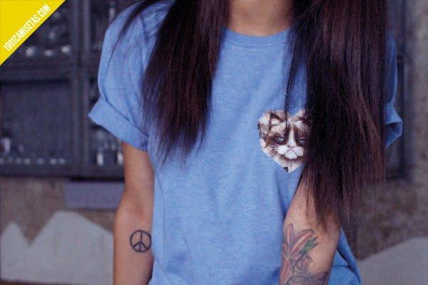 Camiseta grumpy cat basqia-clothing