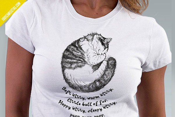 Camiseta soft kitty