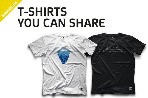 Camisetas para compartir