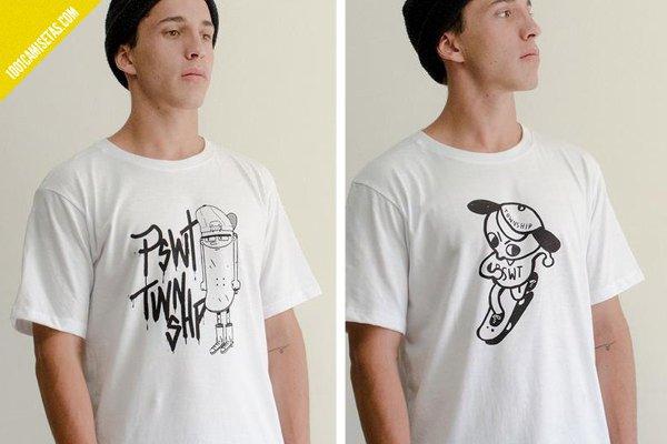 Camisetas skaters paswato