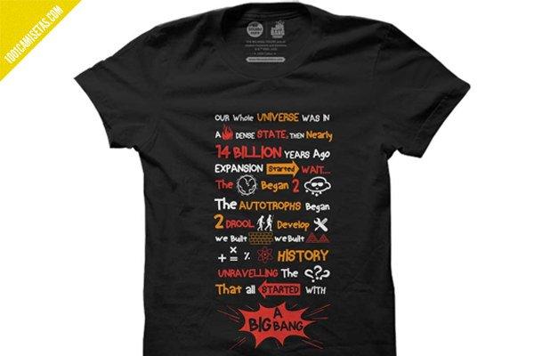 Camisetas the big bang theory intro