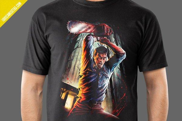 Camiseta ash evil dead
