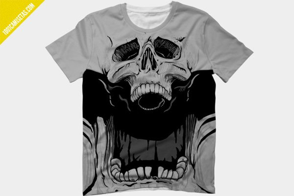Camiseta calavera halloween