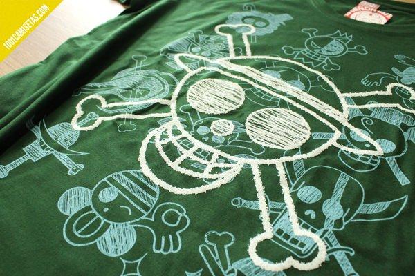 Camiseta one piece serigrafia sr miyagi
