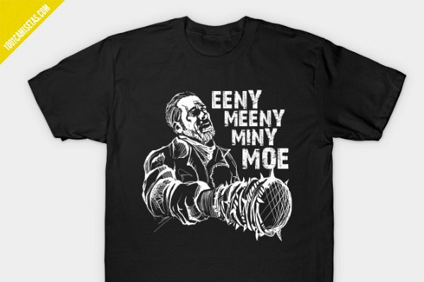 Camiseta negan walking dead