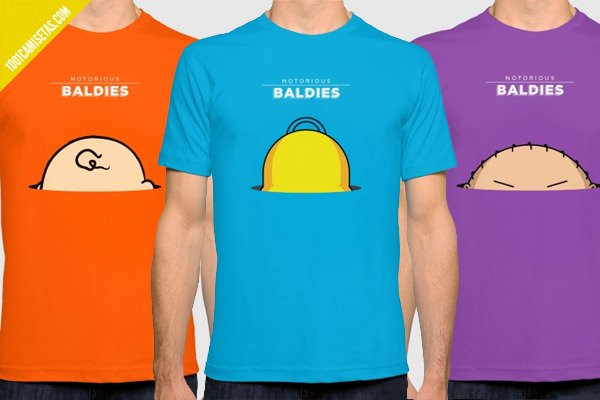 Camisetas notorious baldies simpsons