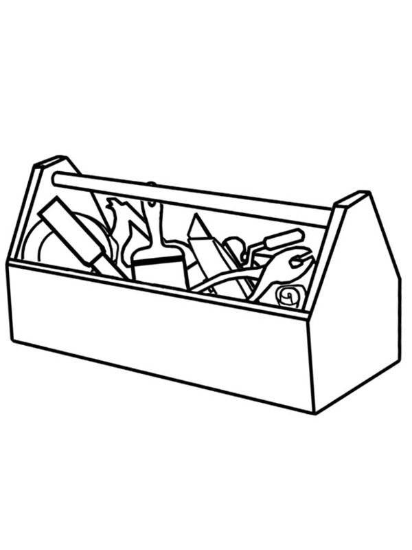 Tool Box Coloring Page : coloring, Color, 1001coloring.com