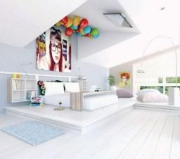 chambre-ado-fille-blanche-claires-ballons-couleurs