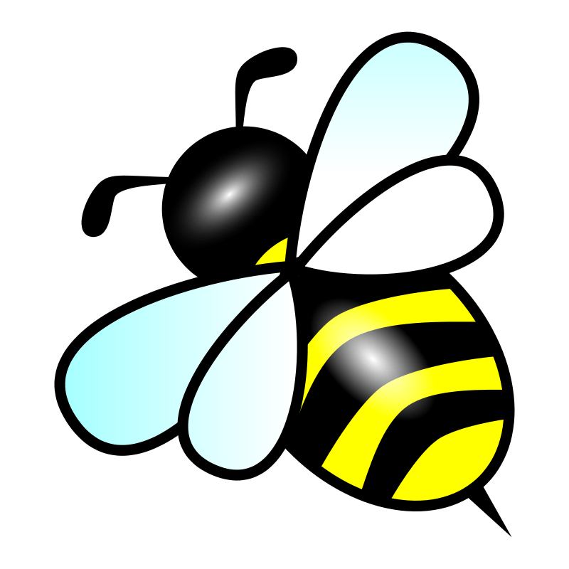 free clipart bee forestgreen