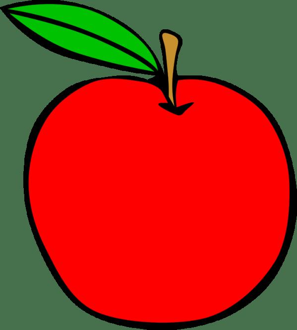 free clipart simple fruit apple