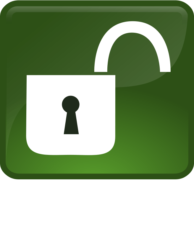free clipart opened lock