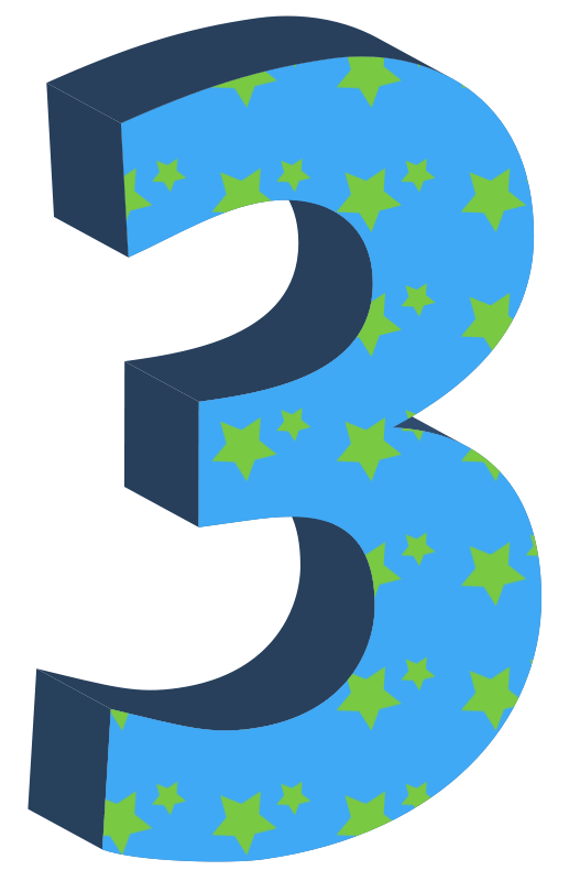 free clipart 3 three