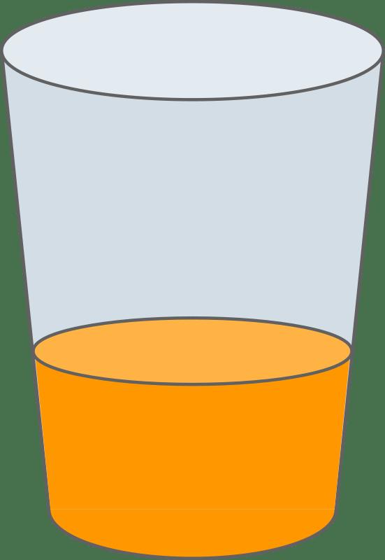 free clipart oranje juice glass