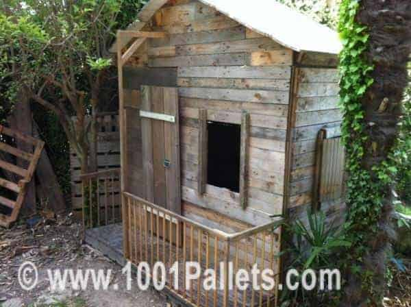 25 Ideas To Recycle Pallets In Kids Pallet Playhouses