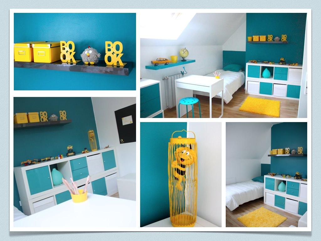Chambre Bleu Turquoise Et Jaune