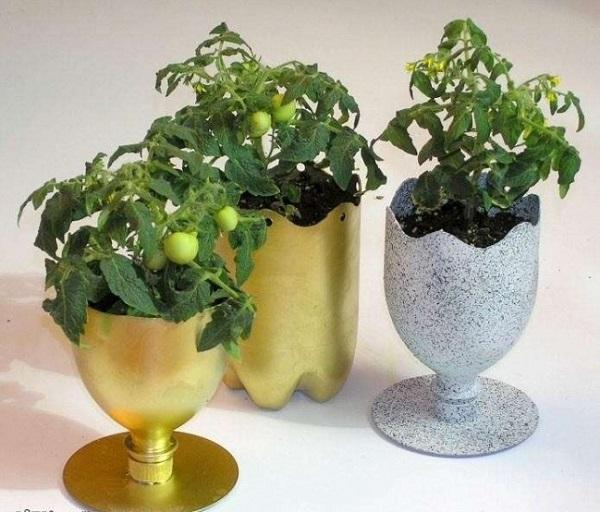 vasos feitos a partir de embalagem plástica5