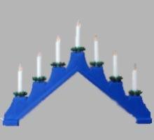 Świecznik adwentowy niebieski