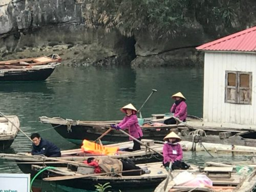 Pearlfarm & floating village Halong bay Vietnam