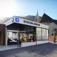 U-Bahn im kleinen Tiroler Ferienort Serfaus