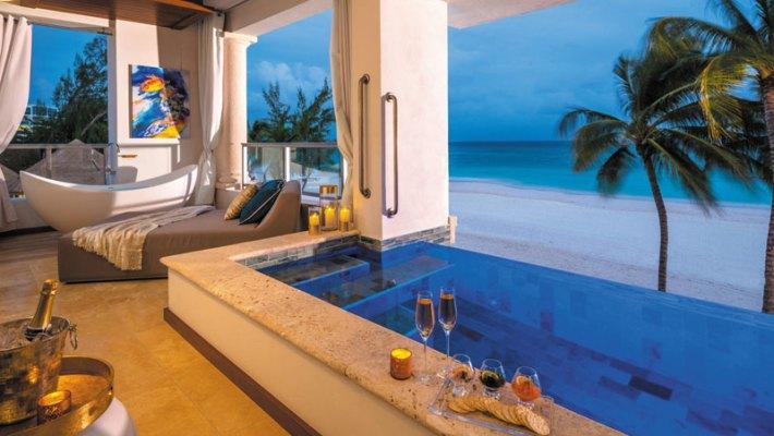 Die schönsten Badewannen und Pools der Karibik für romantische Stunden