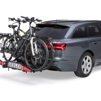 Fahrradheckträger Uebler i21 – Gefaltet kompakt – Entfaltet großzügig