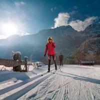 Langlauf auf dem Dolomitengolf Golfplatz
