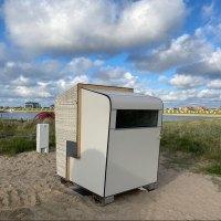 Strandkorb und Sauna – Erste Strandkorbsauna in Büsum
