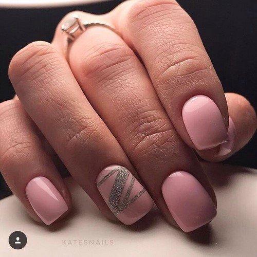 Модный дизайн маникюра на короткие ногти - фото идеи