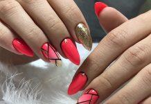 красные ногти дизайн 2019 фото 2