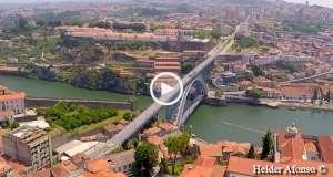 Fenomenal, o Porto visto do céu