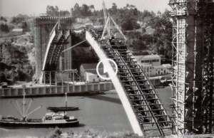 A construção da Ponte da Arrábida