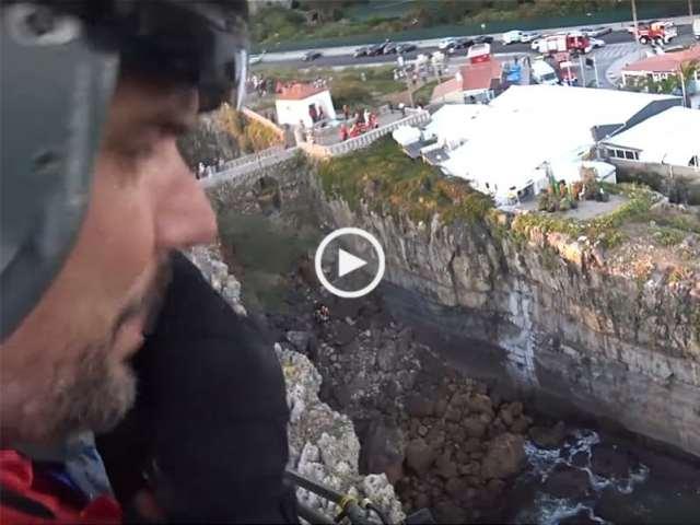 Resgate de vítima de queda na Boca do Inferno!