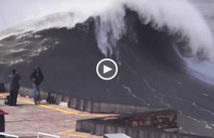 Brutal! As maiores ondas do mundo na Nazaré