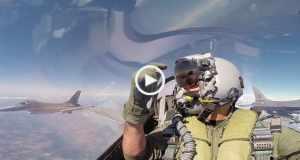 Voando num F16