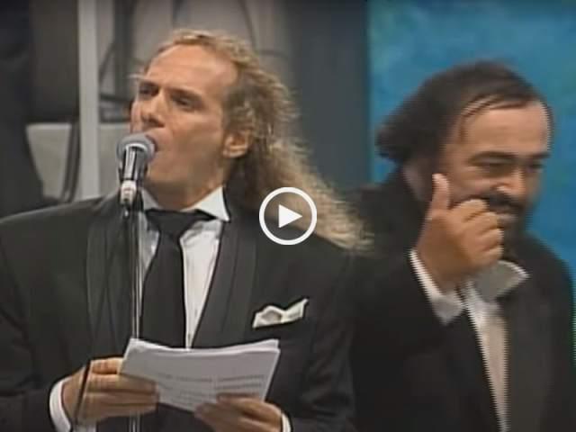 Pavarotti e Michael Bolton