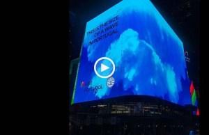 Onda gigante da Nazaré chegou a Nova Iorque