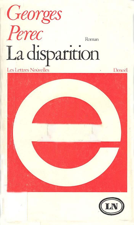 Texte Sans La Lettre E : texte, lettre, Disparition,, George, Perec, 1001traces