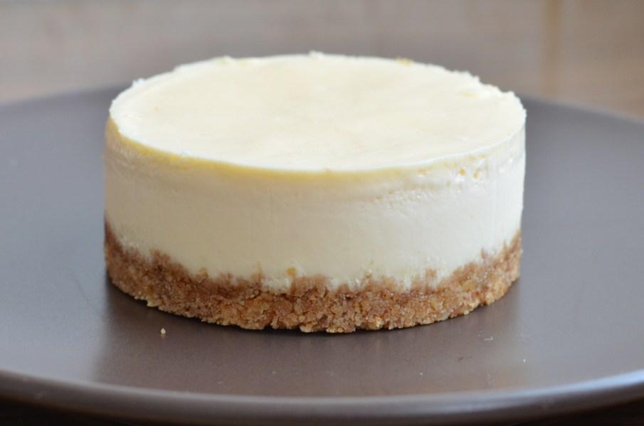 Cheesecake po vytlačení z formiček