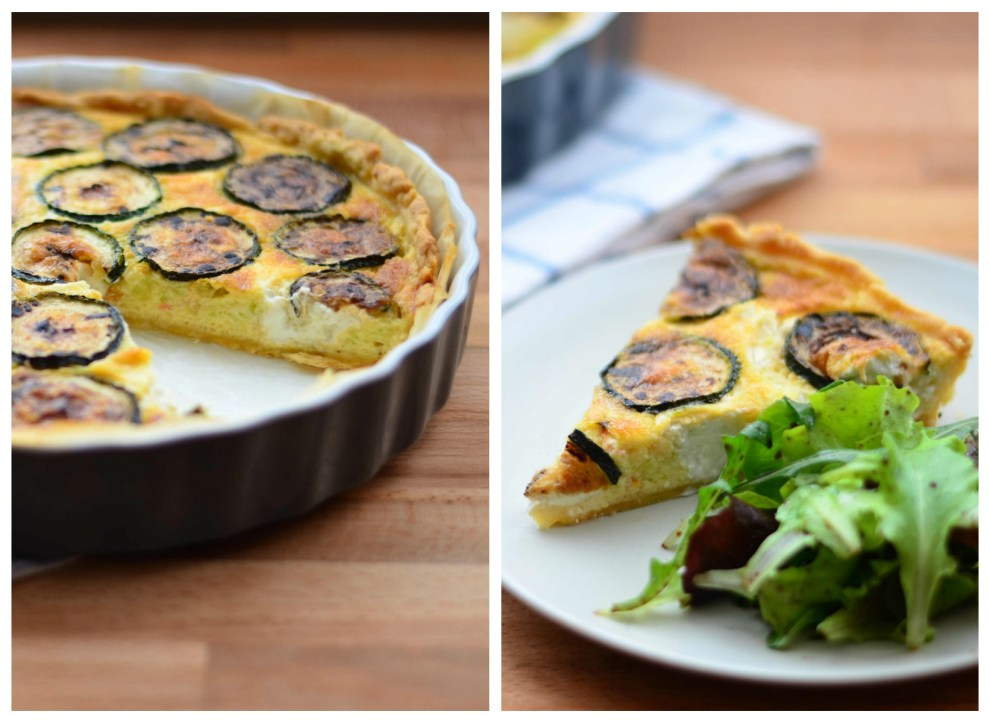 Courgette and Goat Cheese Quiche